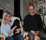 Frihamras Black Pleasure (Zelda) med sin nya matte Ulrika och husse Magnus