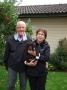 Frihamras Field Crescent (Cesar) med sin nya familj