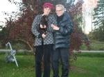 Frihamras Woodland Ringlet (Tove) med sin nya familj
