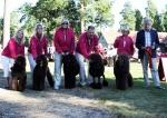 Happy Dancing Hug Jean (Håkan) blev BIS avelsgrupp med Frihamrashundarna Teddy, Jack, Soya och Java