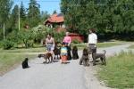 Irmas syster Stina var här med hela sin familj på besök juli 2008