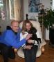 Kicken med sin nya matte Marianne och husse Roger