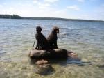 Ludwig och Miro på en öde ö