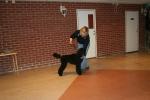 Marley med sin nya matte Maria på handlerträning