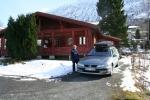 Stugan vi bodde i när vi var i Norge för att para Zottie o Aida