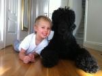 Vårat barnbarn Alexander med sin bästa kompis