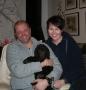 Frihamras Brown Prosperity (Olaf) med sin nya husse Öystein och Heidi