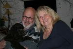 Frihamras Brown Succes (Svempa) med sin nya husse Thomas och matte Eva