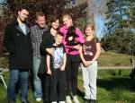 Frihamras Cambellwell Beauty (Kessie) med sin nya familj