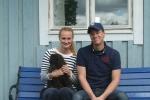 Frihamras Good Day Sunshine (Knut) med sin nya familj Alexandra och Jonas