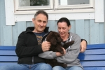 Frihamras I Wanna Be Your Man (Jamie) med sin nya familj Andy o Cornelia
