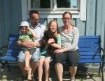 Frihamras Le Petit Prince (Hasse) med sin nya familj Jan o Malin med barnen Svante och Kerstin