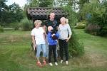 Grynet med sin familj