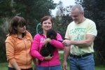 Här är Frihamras Texas Pecan (Texas) med sin nya familj