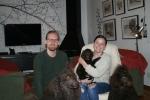Idag flyttar Frihamras Faithful Neptun (Sandor) till sitt nya hem. Här är han med pappa Nelson och mam ma Java och sin nya matte Karin och husse Lukas