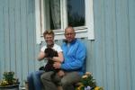 Kasper med sin nya familj Ulrika och Per