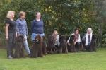 Kicken, Harry, Rakel och mamma Honey o pappa Ole, Poppi och Cinna